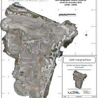 Topographie drone avec orthophoto pour courbes de niveau