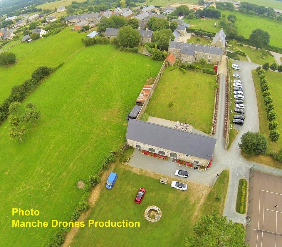 Tourville sur Sienne dans la Manche en vue aérienne