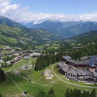 Valmorel, photo aérienne par drone en Savoie