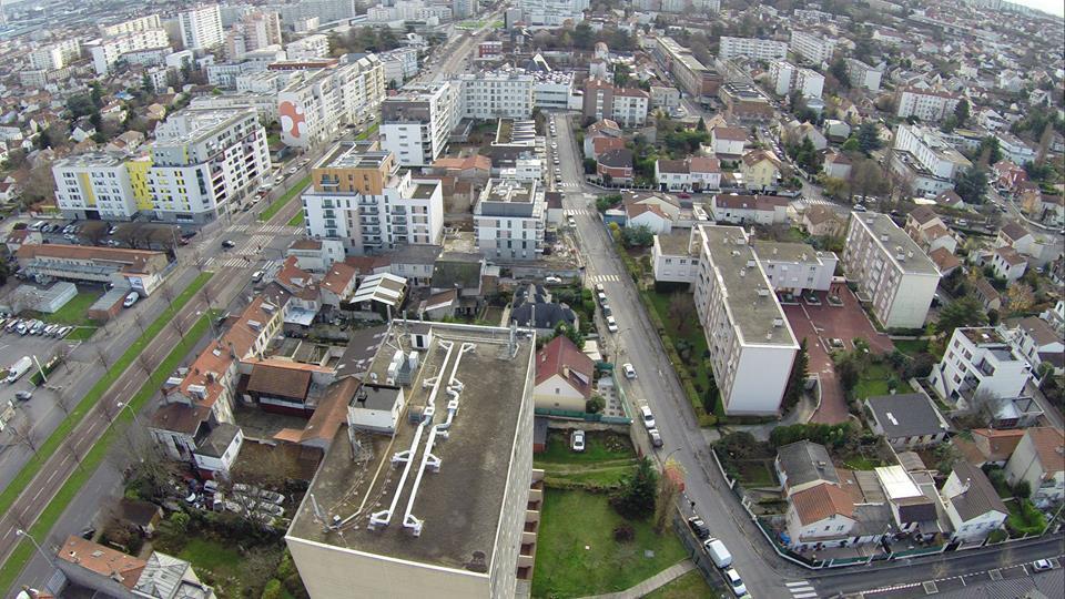 Vitry sur Seine ville de région Parisienne en vue aérienne