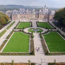 Photographie aerienne d'un chateau