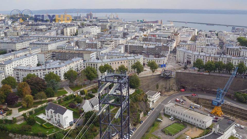 Vue aérienne de Brest photo de drone