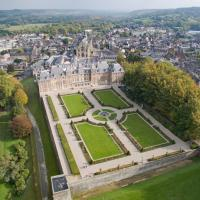 Vue aérienne de EU, ville en Haute Normandie