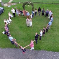 Photo aérienne de mariage par un drone