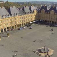 vue aerienne de ville photographie par drone