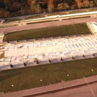 Vue aérienne des fontaines du Trocadéro à Paris