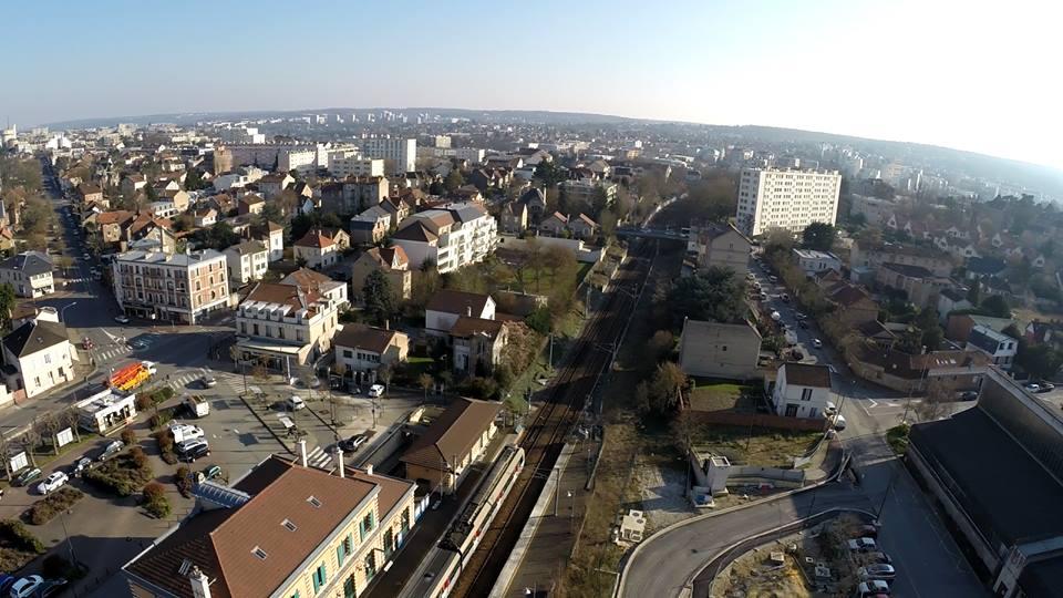 Vue aérienne Saint-Germain-en-Laye en Ile de France.
