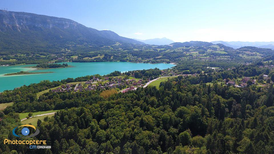 Paysage vue du ciel en Bourgogne-Franche-Comté