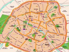 Arrondissements paris en vue aérienne par drone