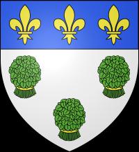Blason de la ville de Vernon dans l'Eure en Normandie