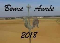 Bonne année 2018 Drone-malin