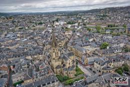 Agglomération vue du ciel par un drone en Nouvelle Aquitaine