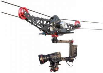 Cable-cam camera mobile sur câbles matériel de photographie professionnel
