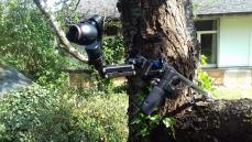 Camera sur perche télescopique