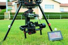 Camera thermique optris pi450 lightweight couplee avec la go pro montée sur drone