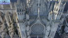 Cathédrale Evreux photo aérienne par drone