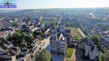 Cathédrale Notre-Dame Evreux photographie aérienne par drone