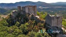 Château photographié par un drone dans le Haut-Var en Provence-Alpes-Côte d'Azur