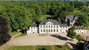 Château de Trangis Evreux en vue aérienne par drone