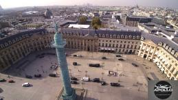 Colonne de la place Vendôme a Paris photographiée par un drone