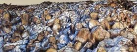 Détail de maillage pour cubage de stock dans carrières ou mines