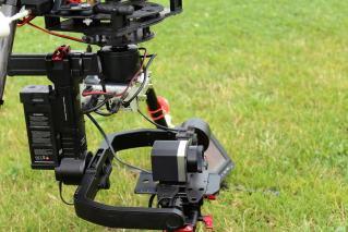 Drone camera infrarouge optris pi450 couplee avec une Go Pro