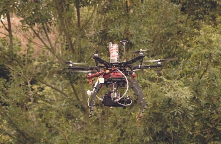 Drone dji550 utilise par highline films droniste rouen en normandie