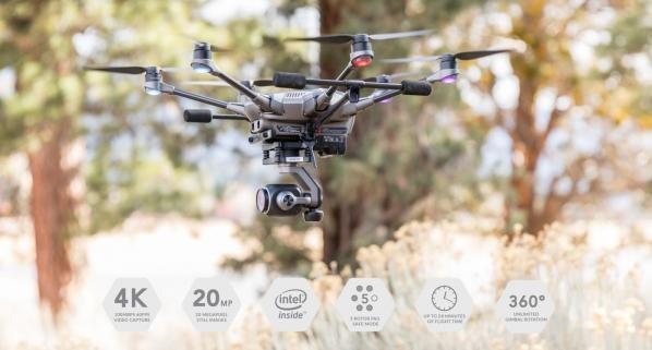 Drone hexacopter de la marque Yunnec le Typhoon h plus