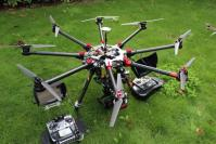 Drone octocopter pour le cinéma