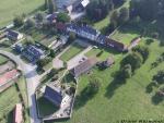 Drone pour photographier village de haut
