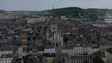 Eglise st maclou de rouen photographiee par un drone