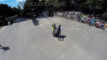 Événement moto photographie aérienne par drone