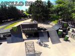 Evenement sportif photographier par drone en vue aerienne