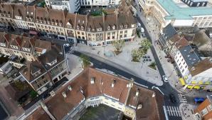 Evreux centre photographie aérienne par drone