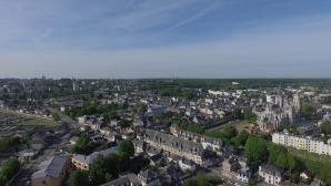 Evreux en vue aérienne par drone