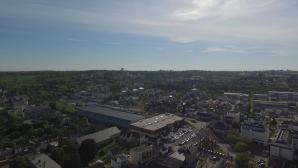 Evreux vue du ciel par un drone