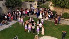 Film d un mariage avec vue aérienne par drone en live