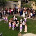 Film de mariage avec vue aerienne par drone