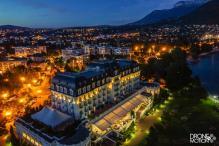 Impérial palace d Annecy vue du ciel
