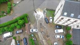 Inondations Breteuil en vue aérienne par drone