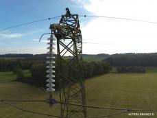 Inspection aérienne ligne électrique par drone