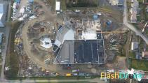 Inspection de chantier en photo aérienne par drone