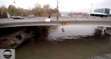 Inspection par technicien du pont d Issy les Moulineaux