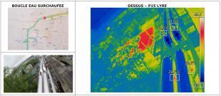 Inspection par thermographie aérienne de réseau eau chaude