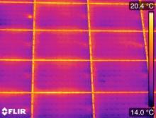 Inspection par thermographie de panneaux solaires photovoltaïques