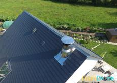 Inspection toiture d une maison par un drone