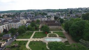 Jardin publique Evreux photo par drone