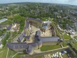 Photographie aérienne d'un château