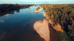 Photo aérienne pour documentaire su la Loire vue du ciel