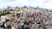 Prise de vue aérienne d'agglomération photographiée par un drone